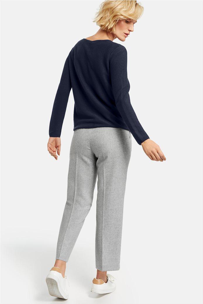 Gerry Weber γυναικείο cropped μάλλινο παντελόνι με πιέτες 3