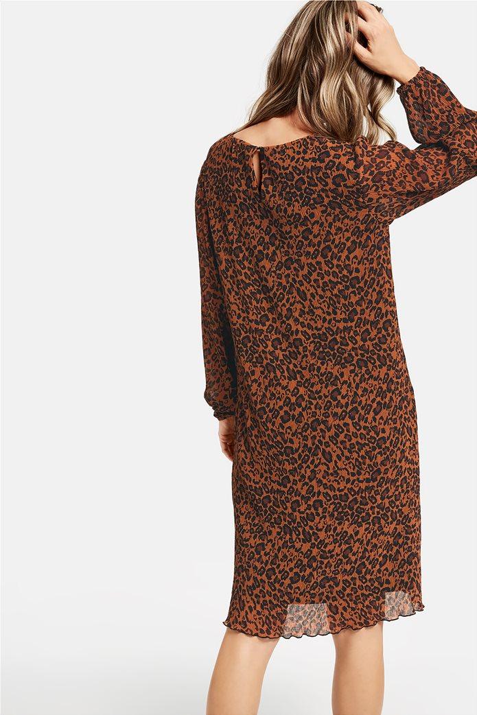 Gerry Weber γυναικείο mini chiffon φόρεμα με leopar print 1