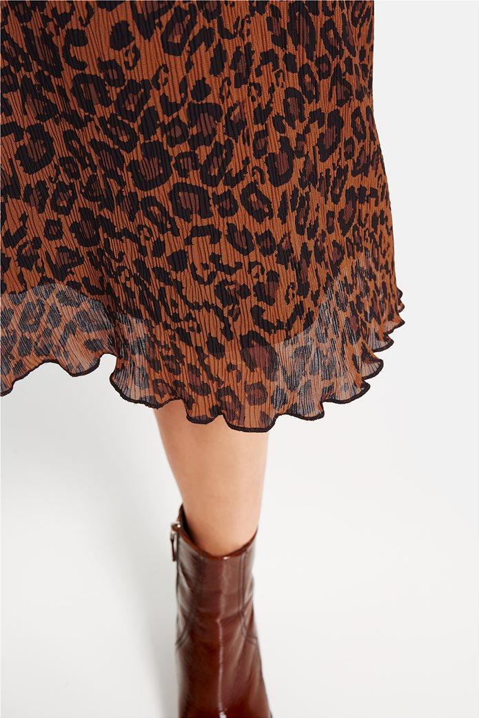 Gerry Weber γυναικείο mini chiffon φόρεμα με leopar print 2