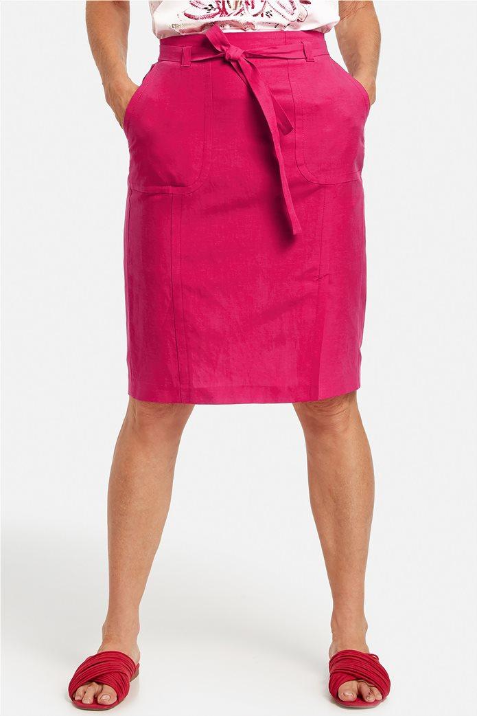 Gerry Weber γυναικεία midi φούστα με τσέπες και ζωνάκι Φούξια 0