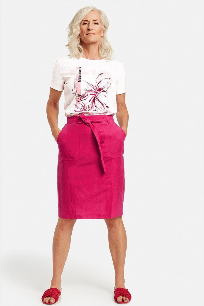 Gerry Weber γυναικεία midi φούστα με τσέπες και ζωνάκι Φούξια 1