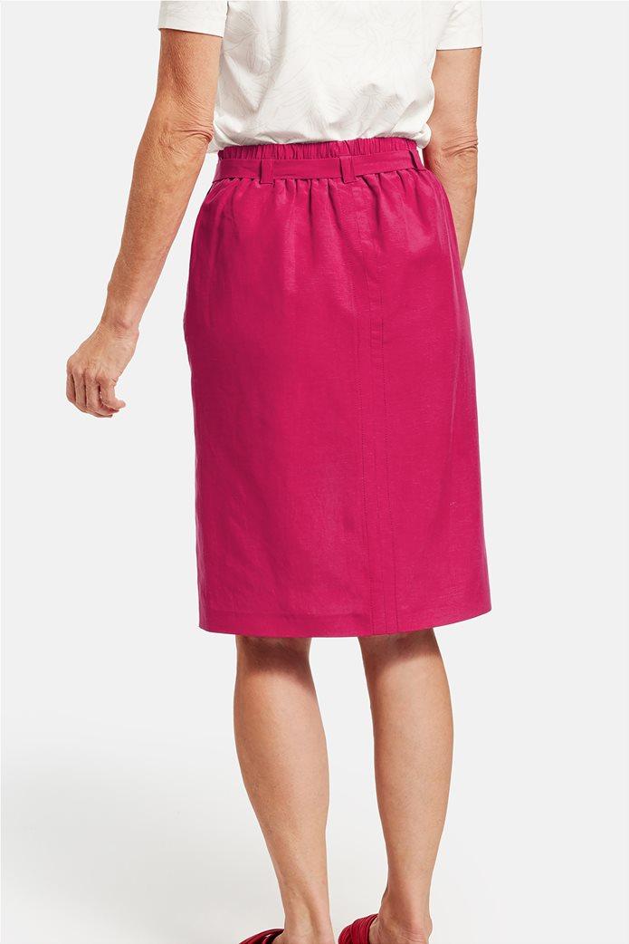 Gerry Weber γυναικεία midi φούστα με τσέπες και ζωνάκι Φούξια 2