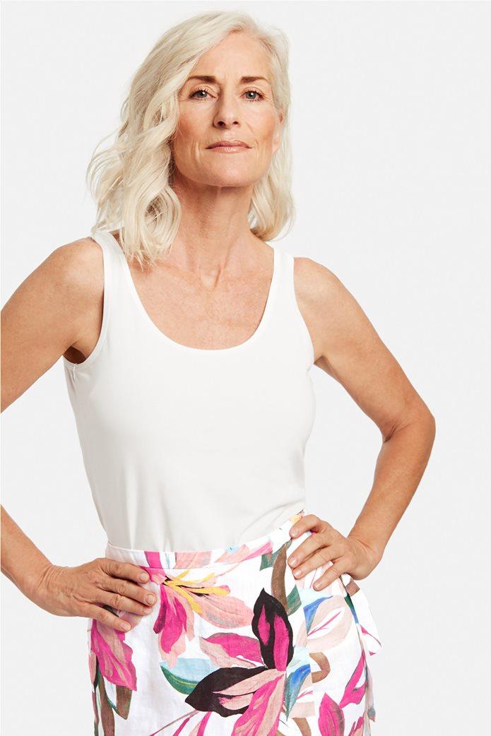 Gerry Weber γυναικεία μπλούζα αμάνικη μονόχρωμη Λευκό 0
