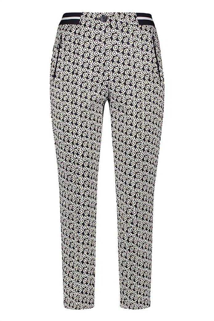 Gerry Weber γυναικείο παντελόνι cropped με all-over print και ελαστική μέση 0