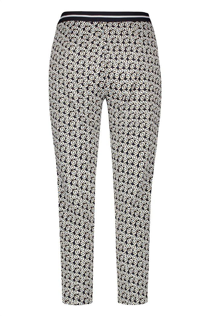 Gerry Weber γυναικείο παντελόνι cropped με all-over print και ελαστική μέση 1