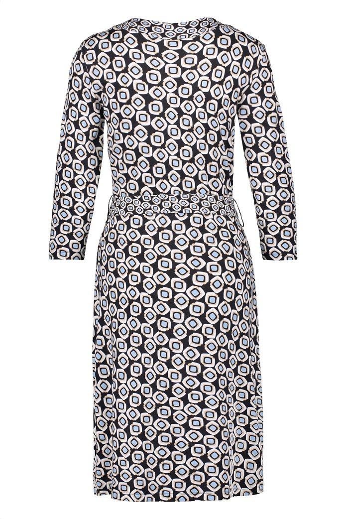Gerry Weber γυναικείο mini φόρεμα κρουαζέ με all-over print και ζώνη στη μέση Μπλε Σκούρο 5