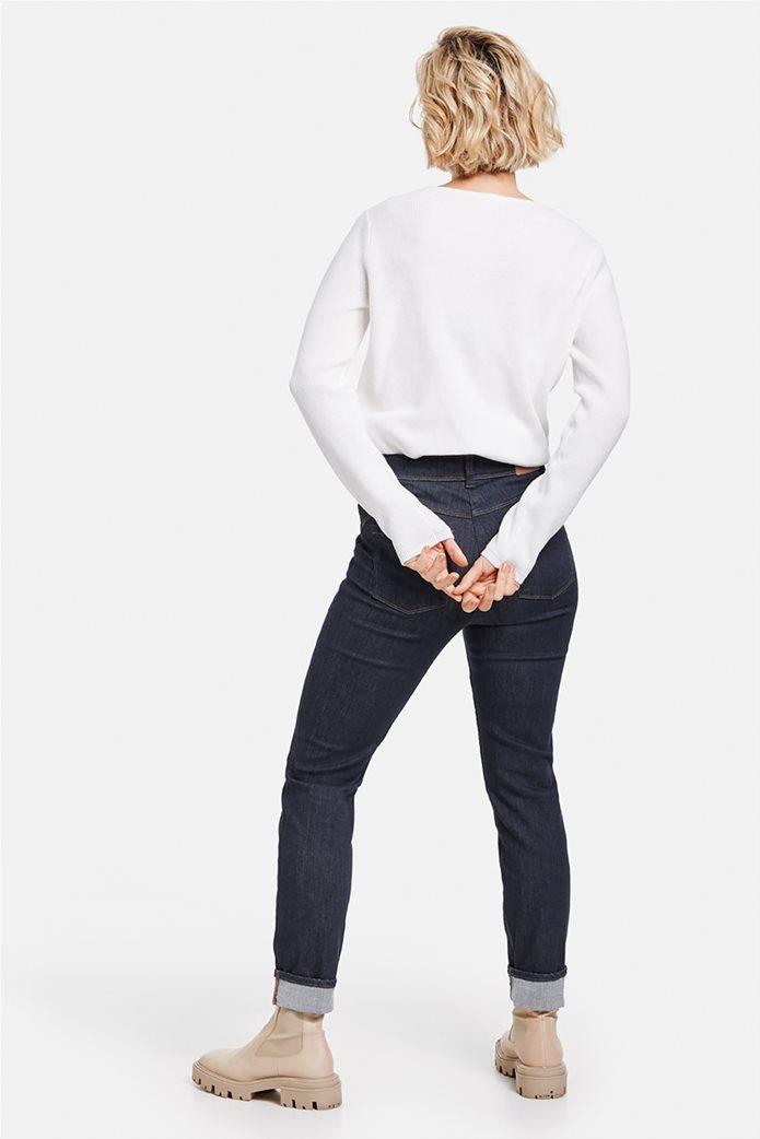 Gerry Weber γυναικείο τζην παντελόνι με ρεβέρ στο τελείωμα 1
