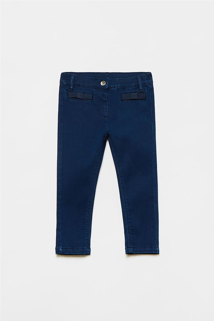 OVS βρεφικό τζην παντελόνι με απλικέ φιόγκους (9-36 μηνών) 0