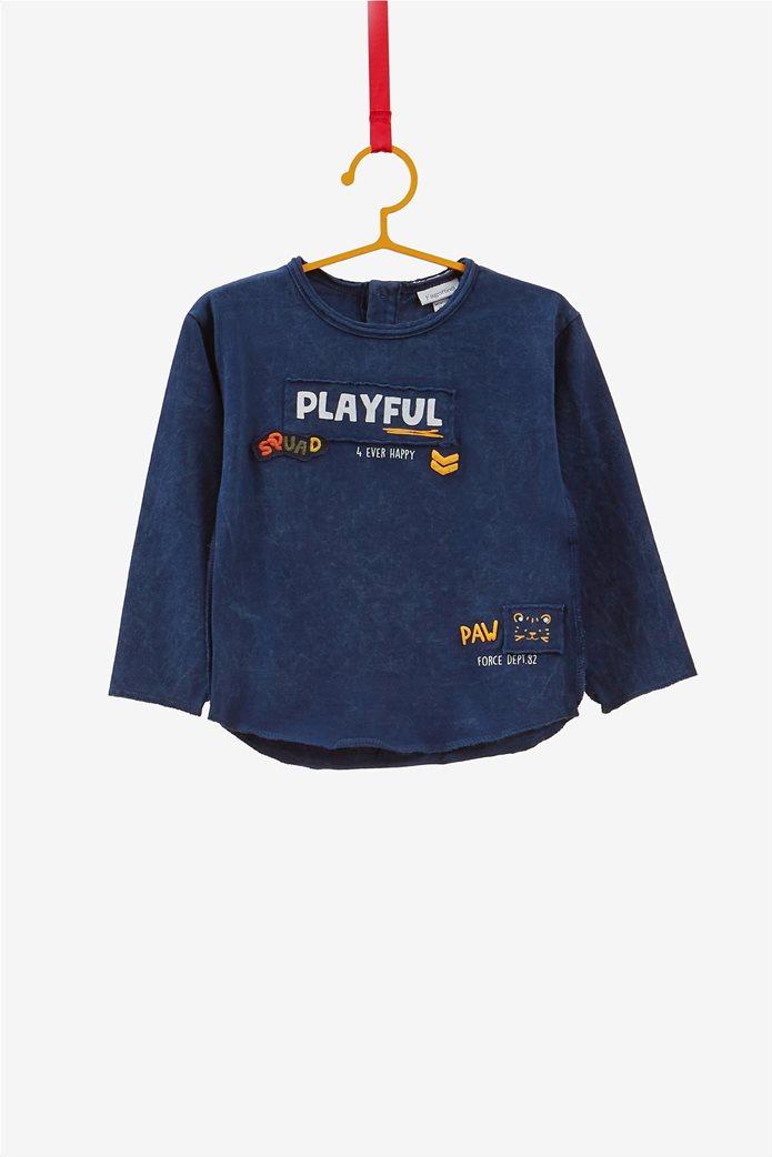 OVS βρεφική μπλούζα με print και patches 0