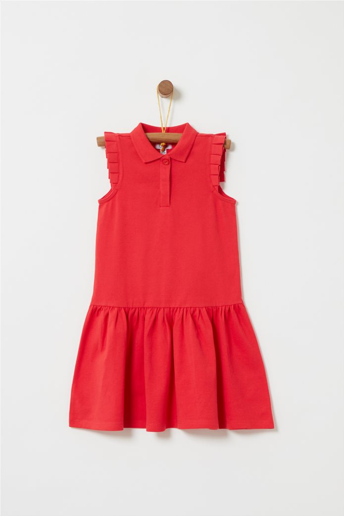 OVS παιδικό αμάνικο φόρεμα με γιακά piquet 0