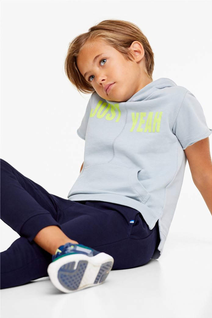 Παιδικό φούτερ κοντομάνικο με κουκούλα OVS 0
