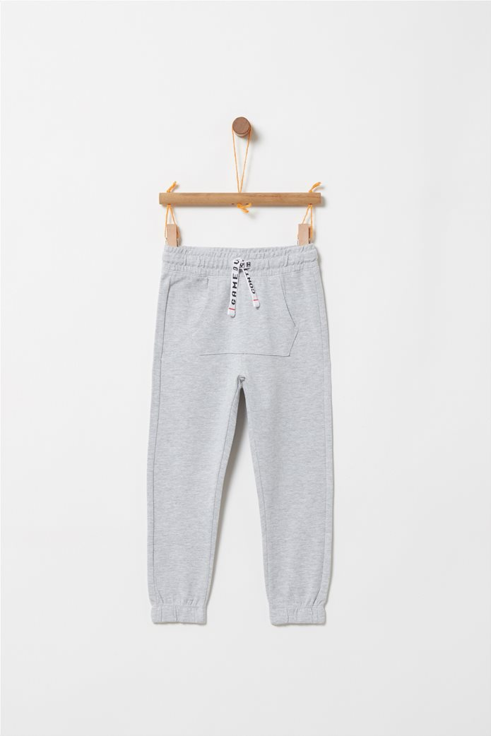 4f3e20aa6b2 OVS | OVS παιδικό παντελόνι φόρμας με τσέπη καγκουρό Γκρι | notos