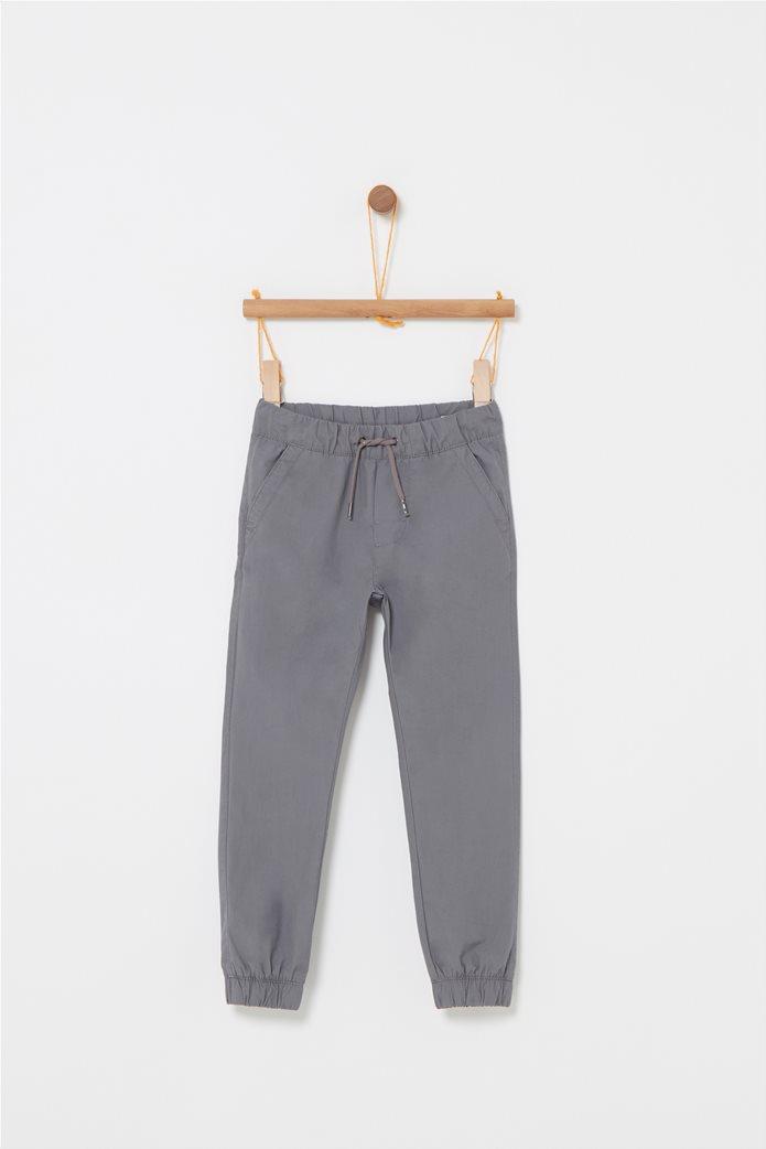 d230df4050f OVS | OVS παιδικό παντελόνι φόρμας μονόχρωμο με κορδόνι Γκρι | notos