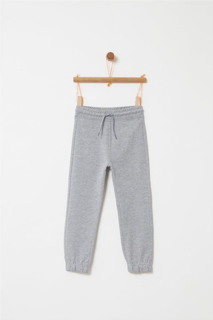 59aaf423173 OVS | OVS παιδικό παντελόνι φόρμας μονόχρωμο με τελείωμα λάστιχο Γκρι |  notos