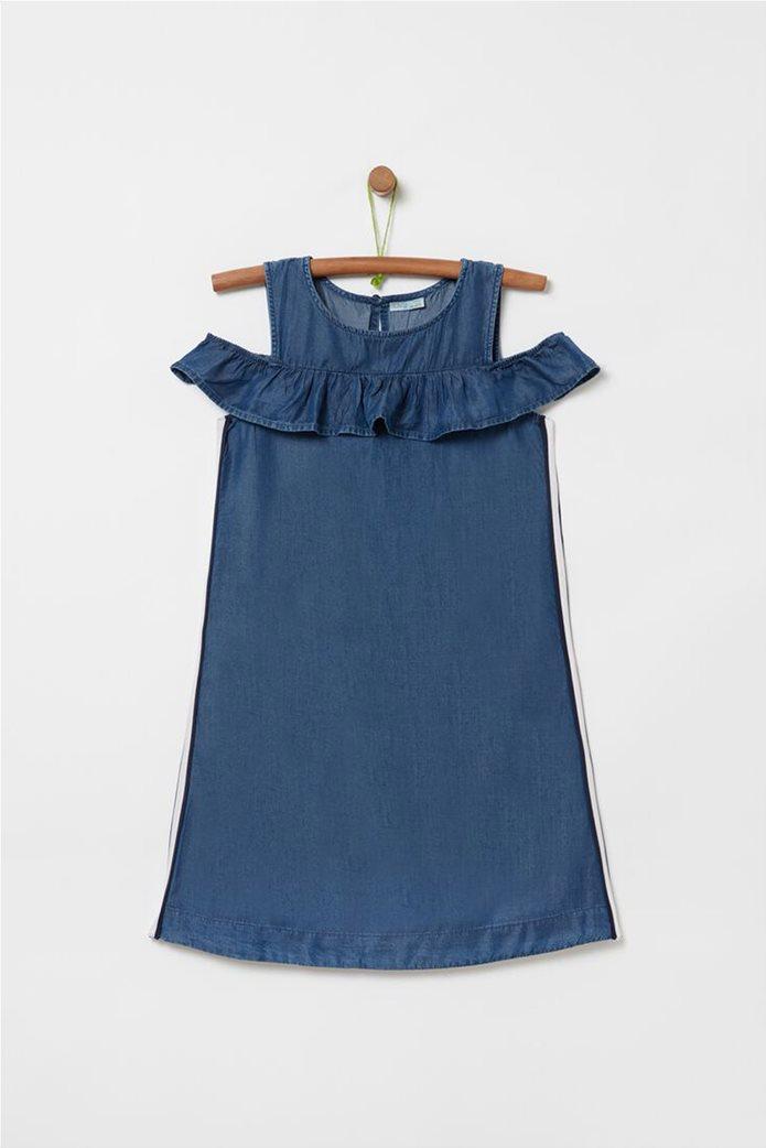 OVS παιδικό αμάνικο φόρεμα denim (10-15 ετών) 0