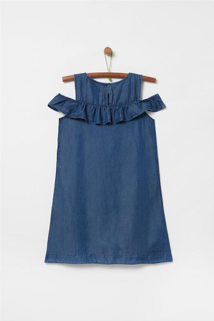 OVS παιδικό αμάνικο φόρεμα denim (10-15 ετών) 1