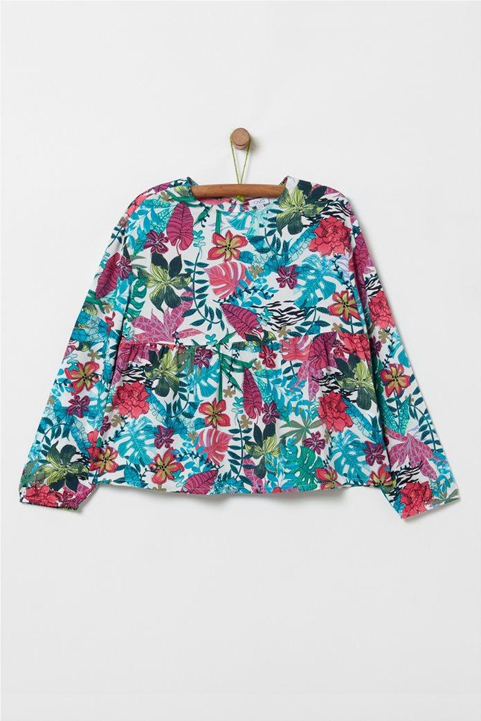 OVS παιδική μπλούζα με all-over floral print και βολάν (10 -15 ετών) 0