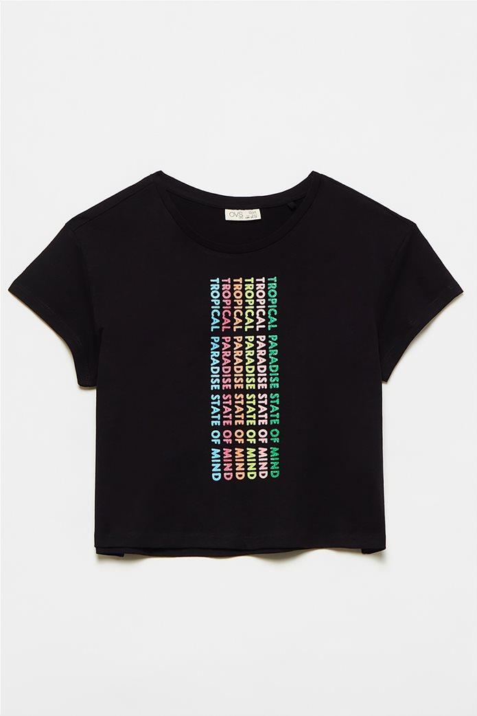OVS παιδική μπλούζα με letter print (10-15 ετών) 0