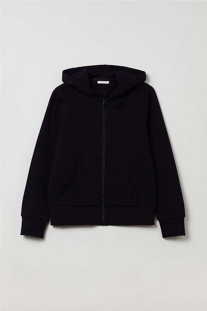 OVS παιδική ζακέτα φούτερ με κουκούλα (10-15 ετών) Μαύρο 0