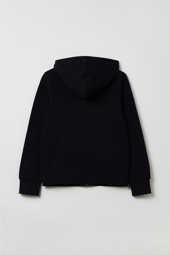 OVS παιδική ζακέτα φούτερ με κουκούλα (10-15 ετών) Μαύρο 1
