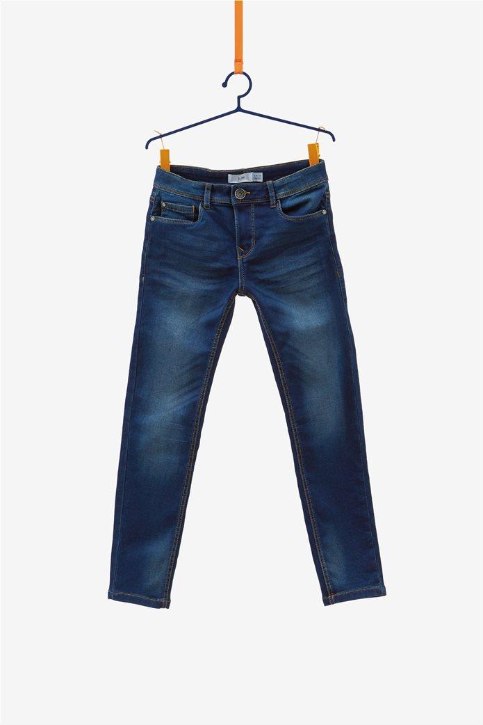 OVS medieval blue παιδικό παντελόνι τζην slim fit 0
