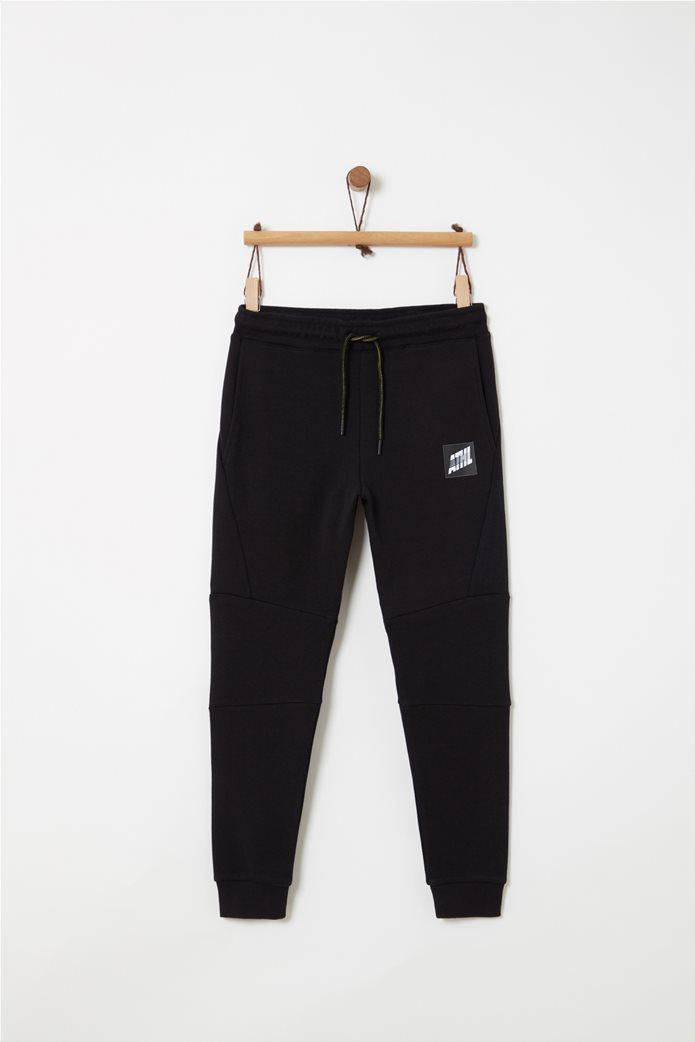 OVS παιδικό παντελόνι φόρμας μονόχρωμο με τσέπες και patch 0