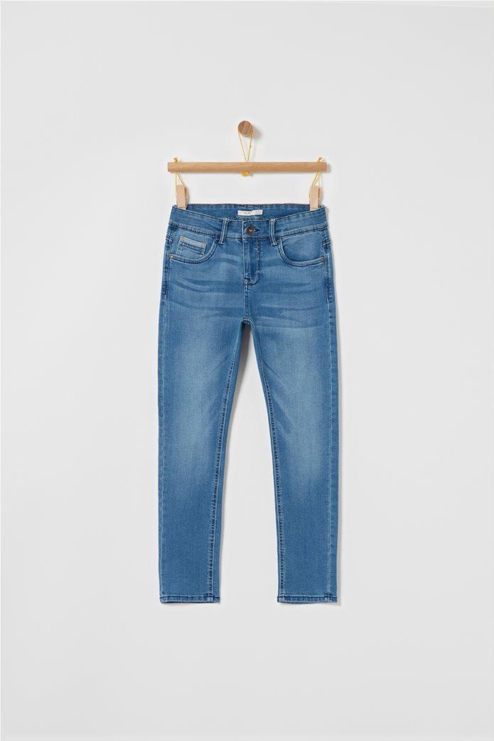 OVS μπλε παιδικό παντελόνι τζην slim fit 0