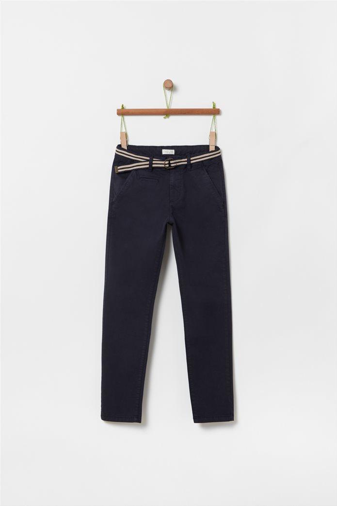 OVS παιδικό μονόχρωμο παντελόνι με ζώνη (10-15 ετών) Μπλε Σκούρο 0