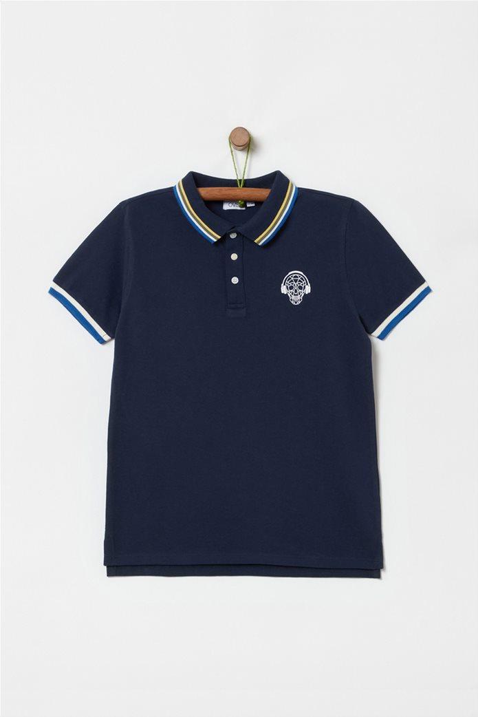 OVS παιδική polo μπλούζα με ρίγα (10-15 ετών) 0