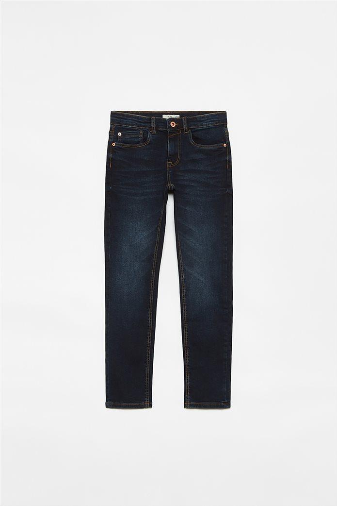 OVS παιδικό τζην παντελόνι πεντάτσεπο Slim Fit (10-15 ετών) Μπλε Σκούρο 0
