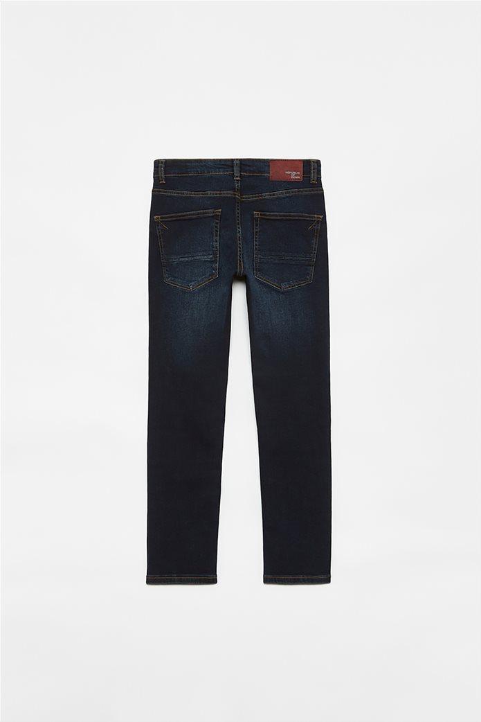 OVS παιδικό τζην παντελόνι πεντάτσεπο Slim Fit (10-15 ετών) Μπλε Σκούρο 1