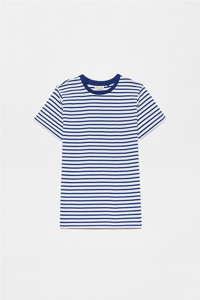 OVS παιδικό T-shirt ριγέ (10-15 ετών) Μπλε Σκούρο 0