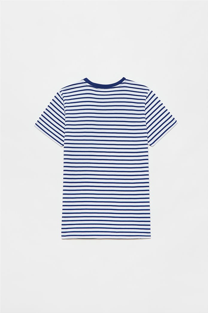 OVS παιδικό T-shirt ριγέ (10-15 ετών) Μπλε Σκούρο 1