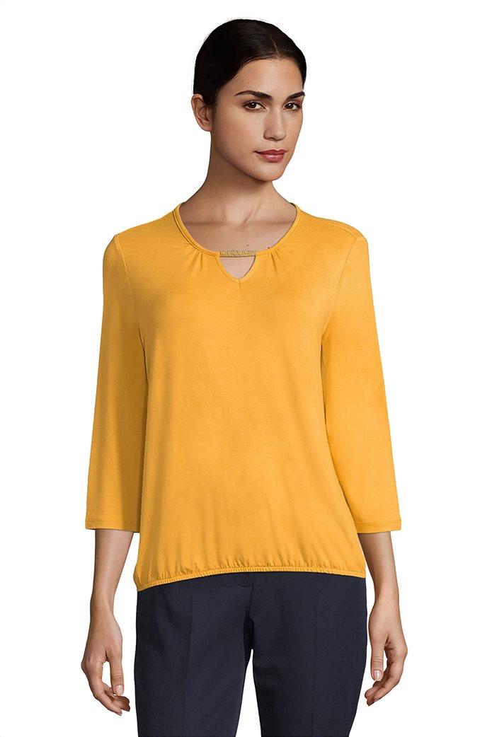 Betty Barclay γυναικεία μονόχρωμη μπλούζα με λάστιχο στο στρίφωμα 0