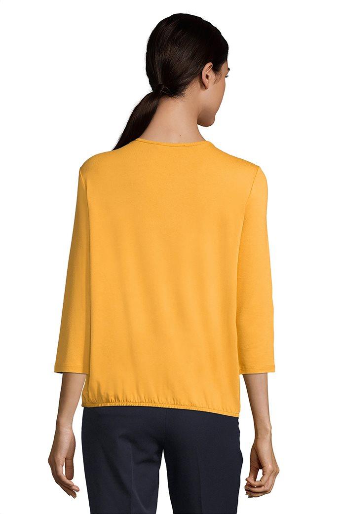 Betty Barclay γυναικεία μονόχρωμη μπλούζα με λάστιχο στο στρίφωμα 1
