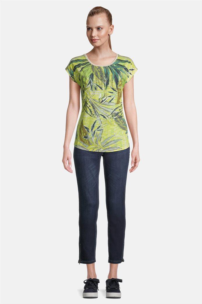 Betty Barclay γυναικεία μπλούζα με διακοσμητικά στρας και floral print 1