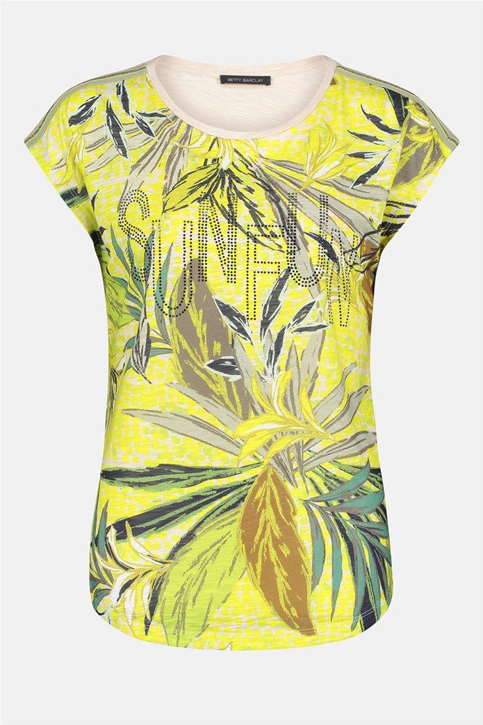 Betty Barclay γυναικεία μπλούζα με διακοσμητικά στρας και floral print 3