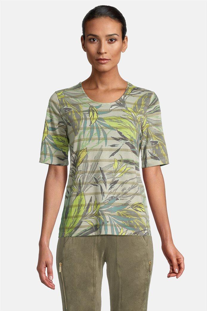 Betty Barclay γυναικεία μπλούζα ριγέ με floral print 0
