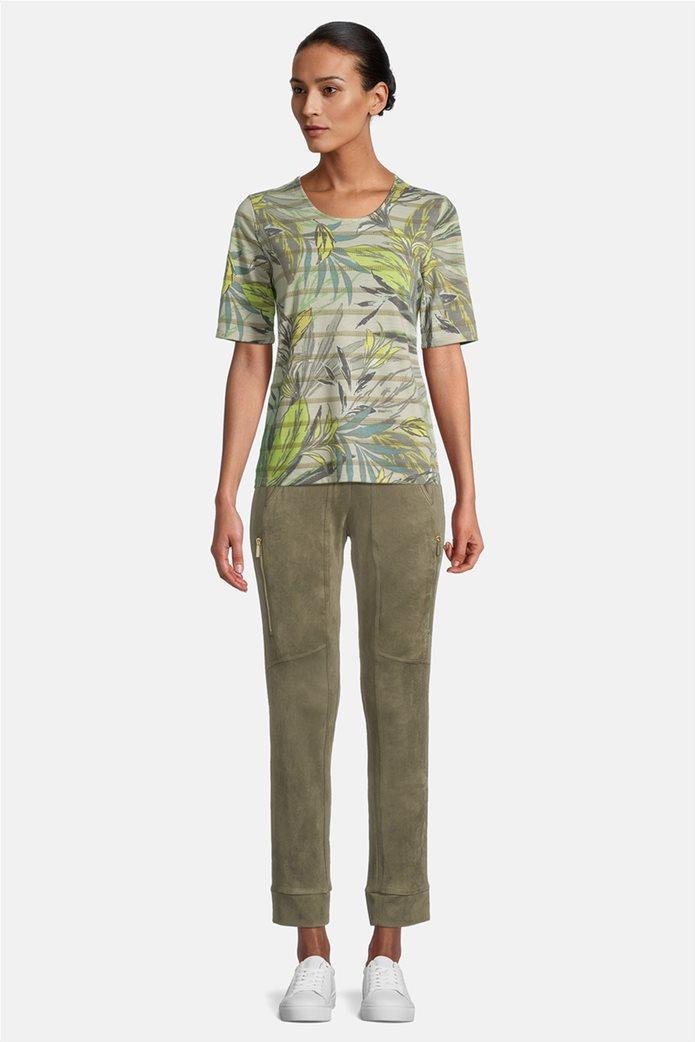 Betty Barclay γυναικεία μπλούζα ριγέ με floral print 1