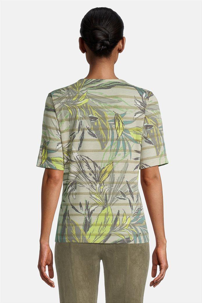 Betty Barclay γυναικεία μπλούζα ριγέ με floral print 2