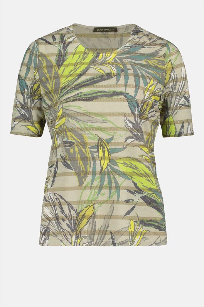 Betty Barclay γυναικεία μπλούζα ριγέ με floral print 3