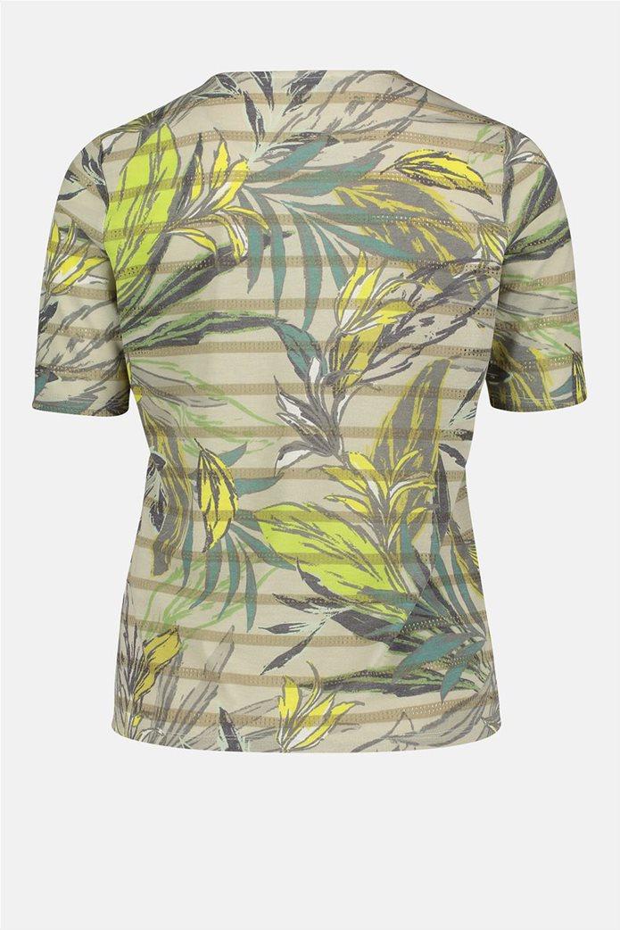 Betty Barclay γυναικεία μπλούζα ριγέ με floral print 4