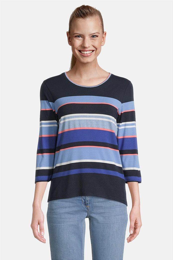 Betty Barclay γυναικεία μπλούζα με μανίκι 3/4 και ριγέ σχέδιο 0