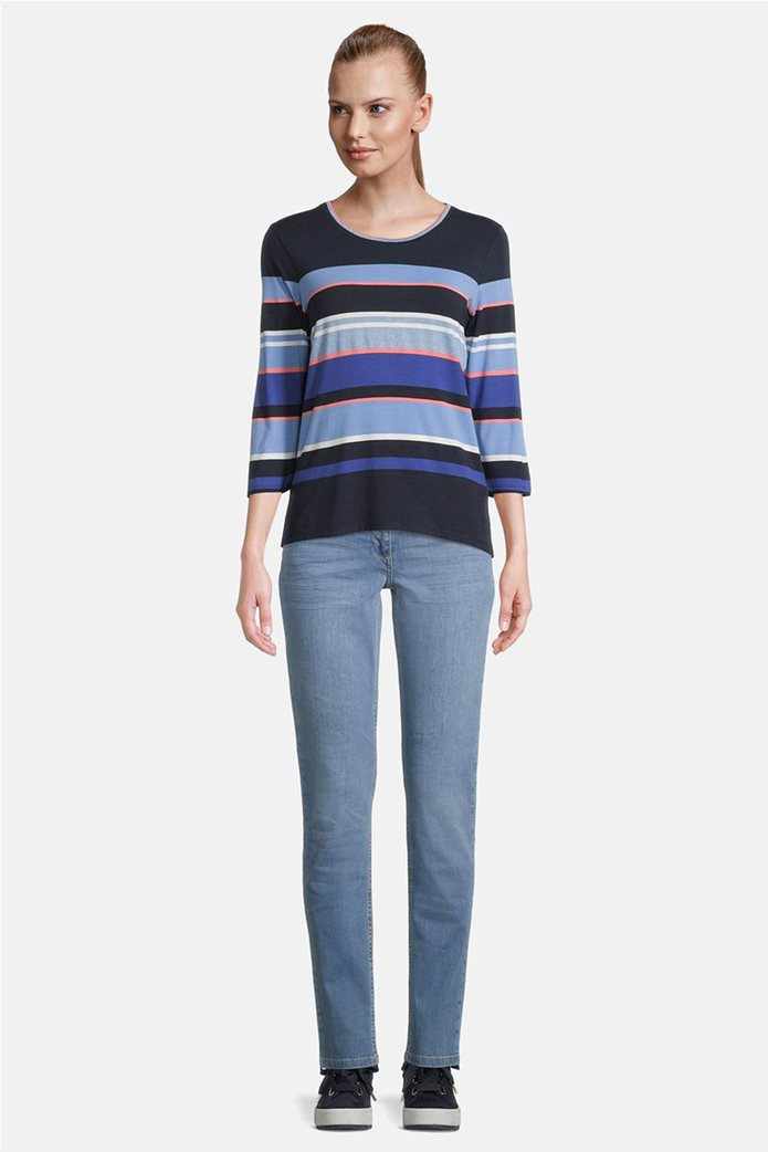 Betty Barclay γυναικεία μπλούζα με μανίκι 3/4 και ριγέ σχέδιο 1