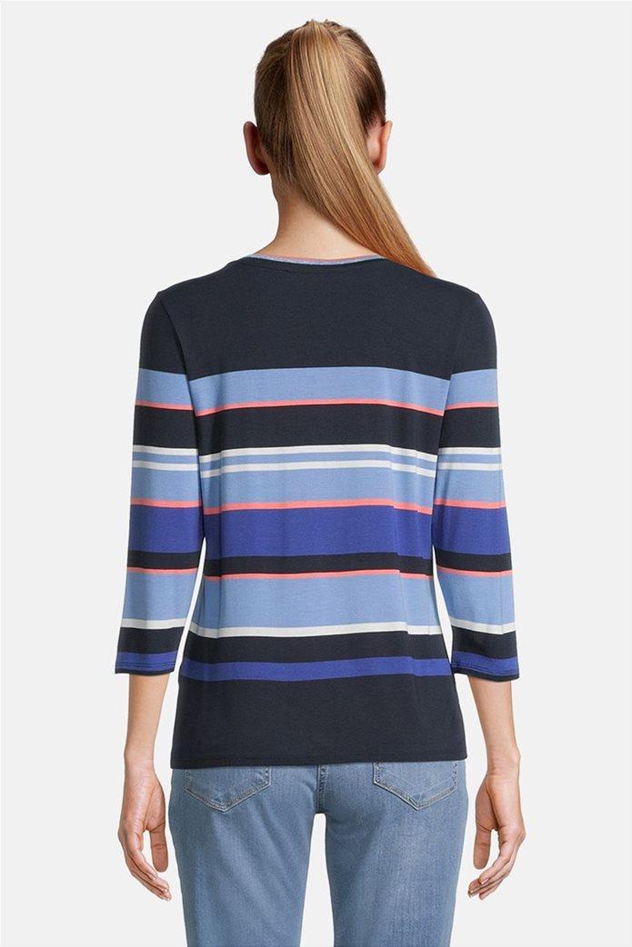 Betty Barclay γυναικεία μπλούζα με μανίκι 3/4 και ριγέ σχέδιο 2