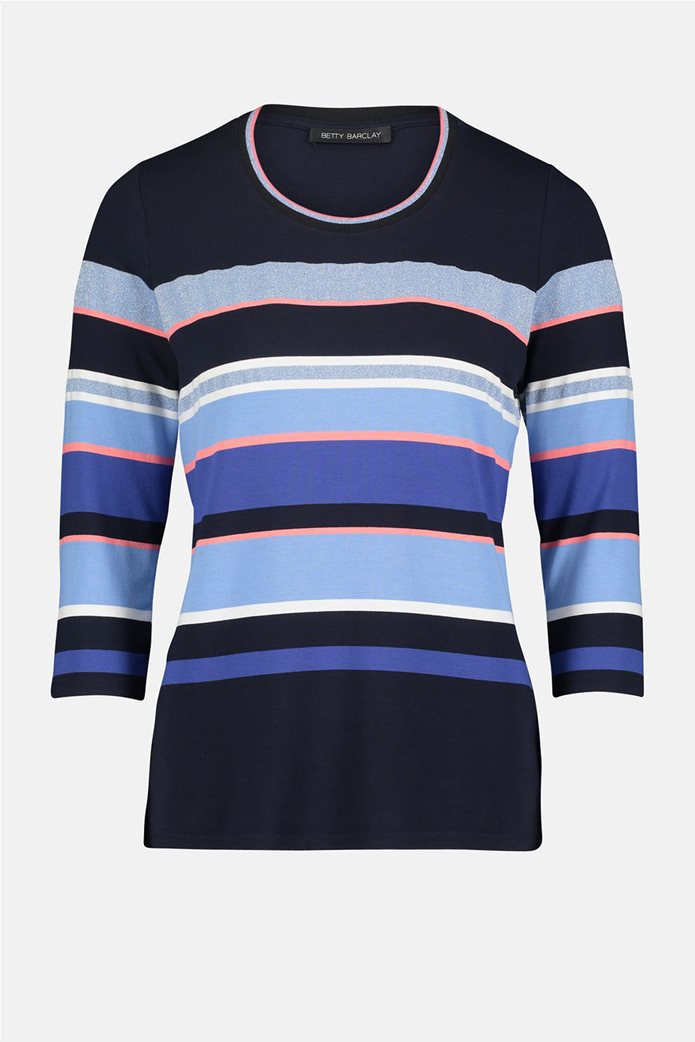 Betty Barclay γυναικεία μπλούζα με μανίκι 3/4 και ριγέ σχέδιο 3