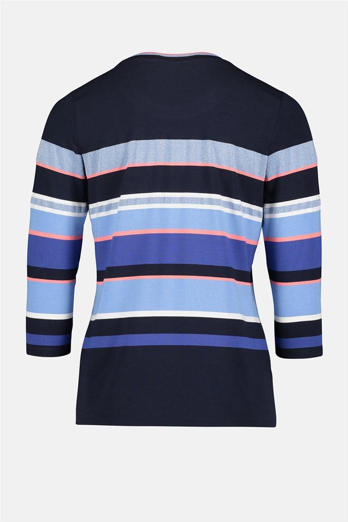 Betty Barclay γυναικεία μπλούζα με μανίκι 3/4 και ριγέ σχέδιο 4