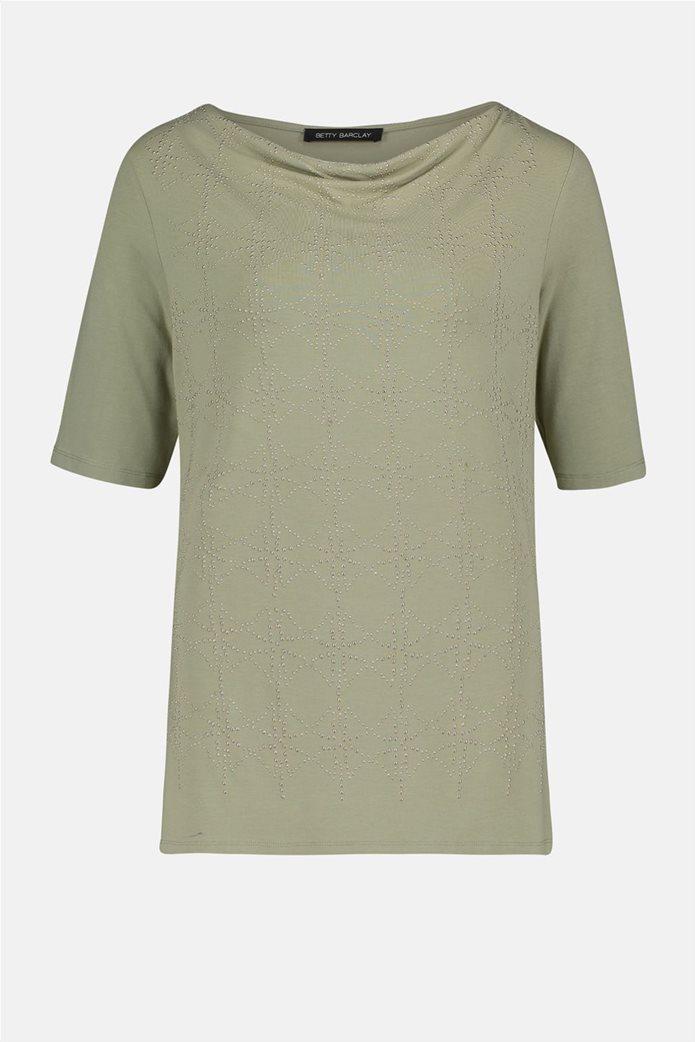 Betty Barclay γυναικεία μπλούζα με σχέδιο με στρας Πράσινο Ανοιχτό 3