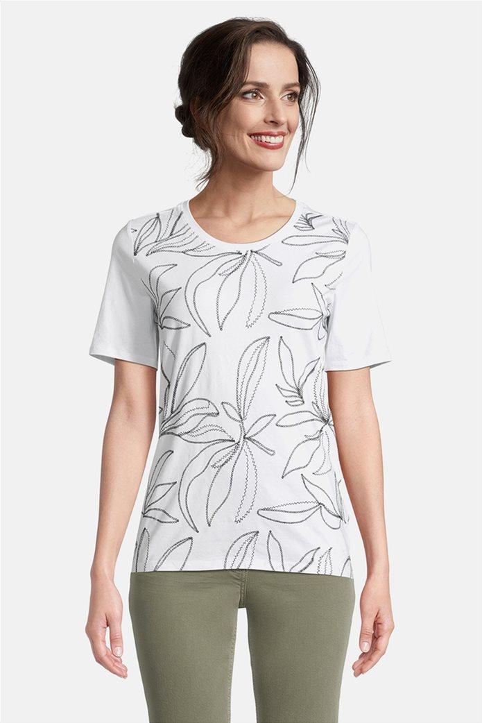 Betty Barclay γυναικεία μπλούζα με κεντημένο floral σχέδιο 0