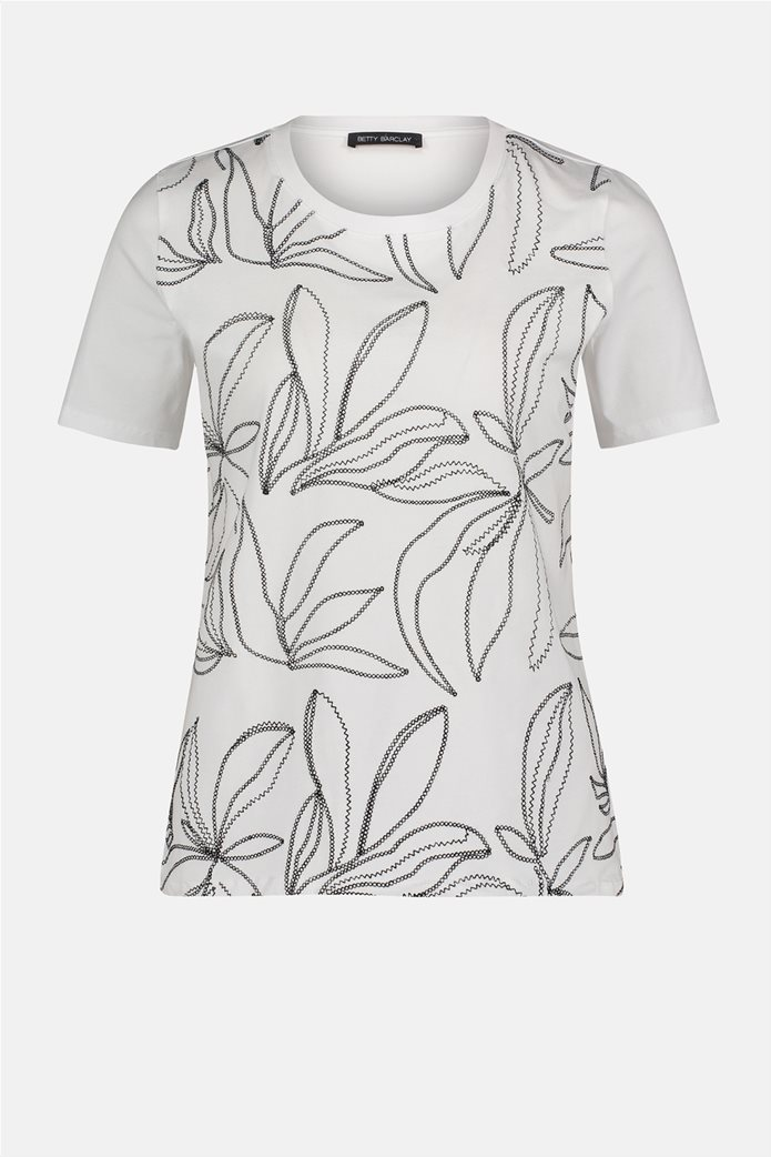 Betty Barclay γυναικεία μπλούζα με κεντημένο floral σχέδιο 3